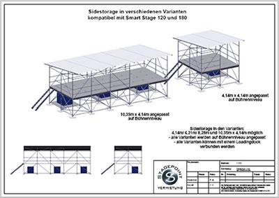 Sidestorage  4,14m, alle Varianten