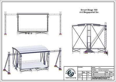Smartstage180 mit Megaportal 5m