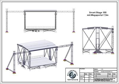 Smartstage180 mit Megaportal 7,5m